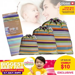 Close Parents Tote Bag (S, M, L) 3pcs Pack