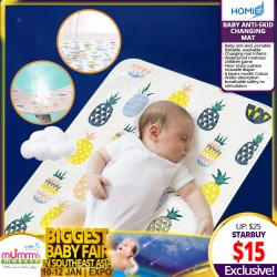 Baby Anti-skid Portable Changing Mat (3 sizes available!) *EARLY BIRD SPECIAL!!!