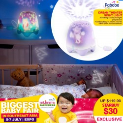Pabobo Smart Dream Theatre Bedtime Soother (for your nursery!!) 75 Percent OFF!!