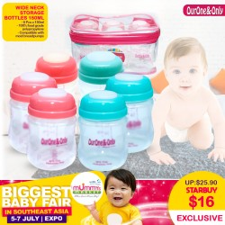 Ourone&Only Wide Neck Breastmilk Storage Bottles (150ml) Bundle of 6 pcs  *ADDITIONAL Bottle for EARLY BIRD SPECIAL!!