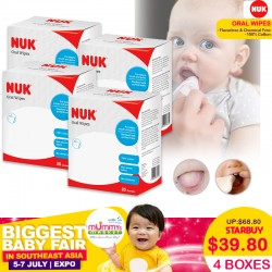 NUK Oral Wipes Bundle of 4 Boxes!!