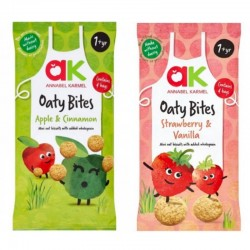 Annabel Karmel Oaty Bites Snack (Apple & Cinnamon / Strawberry & Vanilla)
