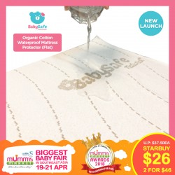 BabySafe Organic Cotton Waterproof Mattress Protector (Flat)