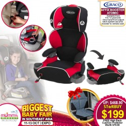 Graco Affix Atomic Carseat + Free High Back Car Cushion Protector