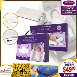 Clevamama Clevafoam Toddler + Pram Pillow Bundle
