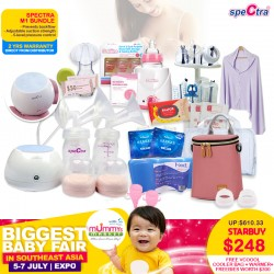 Spectra M1 Breastpump Bundle Deal + 2 Years Local Warranty from Authorized Distributor + Freebies worth $300+ + Warmer