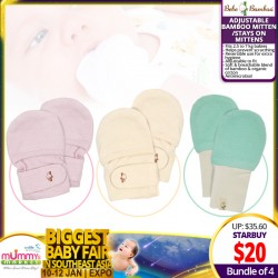 Bebe Bamboo Adjustable Bamboo Mittens (Bundle of 4)