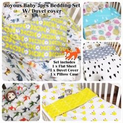 Babytoon 3pcs Premium Cotton Bedding Set