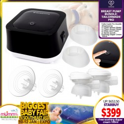 NEW LAUNCH!! LoveAmme Tailormade Pro Double Electric Breastpump Bundle (FREE Breast Shield + T- Joint + Bottle Stands)