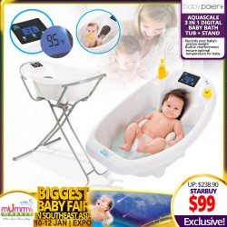 Baby Patent Aqua Scale 3-in-1 Digital Baby Bath Tub & Stand Bundle *ADDITIONAL $10 OFF with SAVE MORE COUPON!!