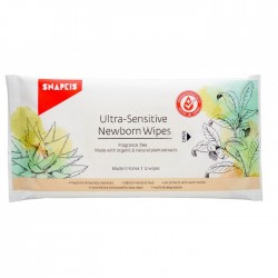 Snapkis Ultra Sensitive Newborn Wipes (12pcs) Bundle of 3