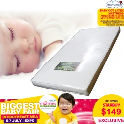 BabyDream Anti-Dustmite Latex Mattress (For Baby Cot)
