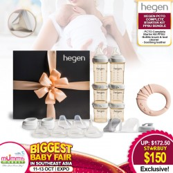 Hegen PCTO™ Complete Starter Kit PPSU + Bottle Brush & Teat Cleaner +  Teether Bundle