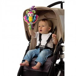 Playgro Carseat / Stroller Toy -  Dingly Dangly Blossom Butterfly / Curly rhe Monkey / Rori the Lion / Tusk the Elephant)