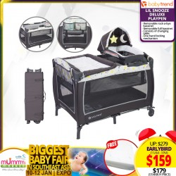 Baby Trend Lil Snooze Deluxe II Nursery Center - Twinkle Twinkle Little Moon + Free Anti Dust Mite Foam Mattress