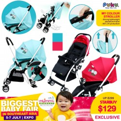 PUKU My Color Stroller (Blue / Red)