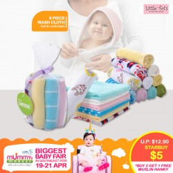 Little Tot's 8 Piece Wash Cloths *ADDITIONAL FREE Gift for EARLY BIRD SPECIAL!!