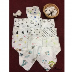 Cotton House Muslin Cotton Baby Bibs (Bundle of 3)
