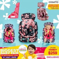 Cosatto Zoomi 123 - 5 point plus Carseat & Booster + FREE Tummy and Chest PADS!