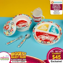 Sugar Booger Mealtime Complete Feeding Bundle (Sippy Cup, Utensils, Suction Plate + Suction Bowl)