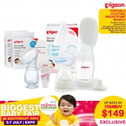 Pigeon Portable Electric Breastpump Bundle
