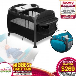 Joovy Room Playpen + FREE Fitted Sheet + Foam Mattress + 1 Year Warranty (Only $259 with
