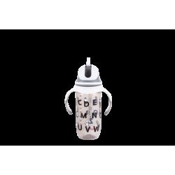 Snapkis Premium Anti-Colic Straw Bottle (300ml PANDA)