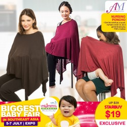 AnneeMatthew Cotton Nursing Poncho