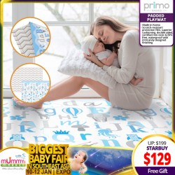 Primo Babies Alphabet Mocha Chevron Playmat + FREE Wet Tissue Pouch and Velcro Strap!!!