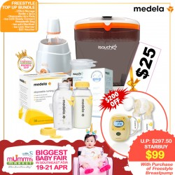 (2019 AWARD WINNER) MEDELA FREESTYLE Breastpump ADD ON $99 for Sterilizer + Warmer + Breastmilk Bags + Bottles and more (WORTH $297.50!!) PWP Ecomom Sterilizer / Reusable Cloth Diaper are AVAILABLE!!