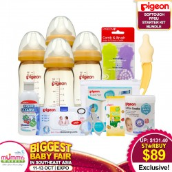 Pigeon Baby SOFTOUCH PPSU Starter Kit Bottle Bundle