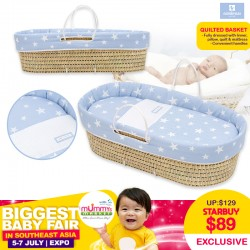 Cambrass Quilted Basket (Baby Sleeper)