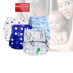 Moo Moo Kow One-Size Bamboo Diaper (BUY 1 FREE 1!!)