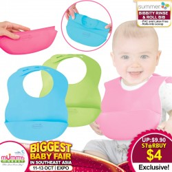 Summer Infant Bibbity Rinse & Roll Bib (3 Colors Available) for $4 ONLY!!