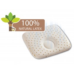 Babylove 100% Natural Latex Newborn Dimple Pillow + Free Pillowcase