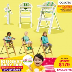 Cosatto Waffle Wooden Highchair