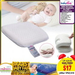 Babylove 100% Natural Latex Newborn Dimple Pillow + Pillowcase *EARLY BIRD SPECIAL!!!