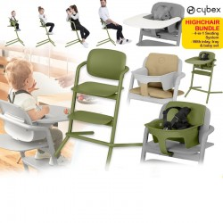 Cybex LEMO 4-in-1 Highchair (Asst) + Baby Set (Asst) + Tray (Asst) + Comfort Inlay (Asst) Bundle FREE Delivery!!