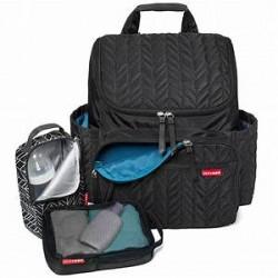 Skip Hop Forma Backpack Diaper Bag (Jet Black/Grey Feather)