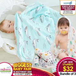 Bamboo Muslin Baby Swaddle/Blanket (Bundle of 3)