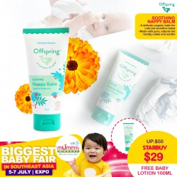 *NEW LAUNCH!!! Offspring Soothing Nappy Balm 75ml + FREE Nourishing Baby Lotion 100ml