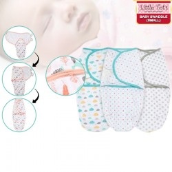 Little Tot's Baby Swaddle Small (3.2-6.4KG) Bundle of 2
