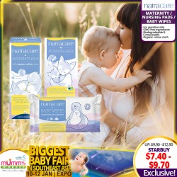 Natracare Maternity Pads with Organic Cotton Cover 10pcs / Natural Nursing Pads 26pcs / Organic Baby Wipes 50pcs