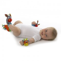 Playgro Baby Jungle Wrist Rattle and Foot Finder