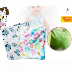Moo Moo Kow Large Size Reusable Wet Bag (BUY 1 FREE 2!!)