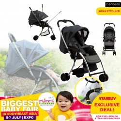 Bonbijou Lucas Stroller FREE Stroller Hook ($10.90) and Trash Bags Dispenser W Refills (WORTH $18.80)
