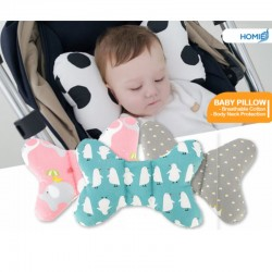 Baby Breathable Cotton Stroller Pillow/Cushion/Neck Support