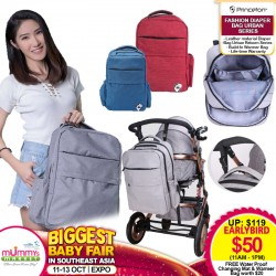 Princeton Fashion Diaper Bag Urban Series + FREE Changing Mat + Warmer Bag!!