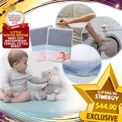 (2019 AWARD WINNER) Little NocheNoche Waterproof Tencel Fitted Sheet for Playpen - Various Sizes Available