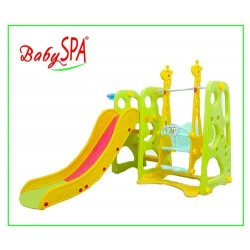 BabySpa Mini Playground Swing and Slide + FREE Fun Pool + 100pcs Balls
